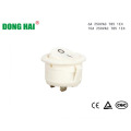 White Round Rocker Switch For Home Appliance