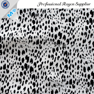 tiger style rayon  reactive printed fabric