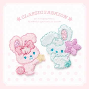 Cute Plush Rabbit Animal Embroidery Patches