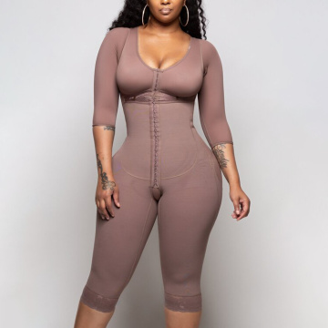 Solid Color Shapewear New Breasted One Piece Shapewear High Compression Faja Bra Waist Trainer 2020