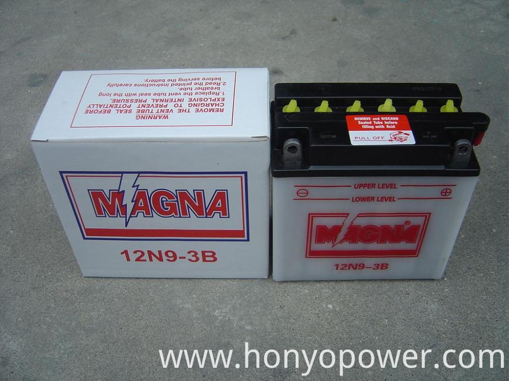 12V 9Ah Dry Charged Batteries