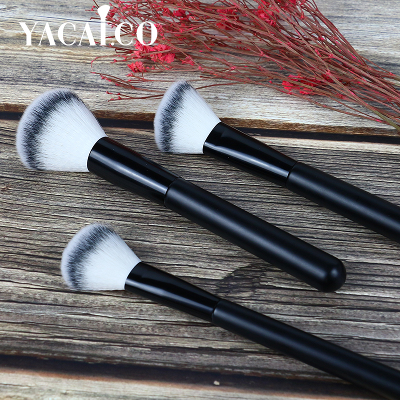 aluminum ferrule cosmetic brush set