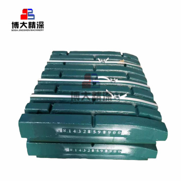 Jaw crusher parts Mn18Cr2 fix jaw plate