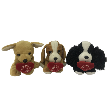 Valentine Sweetie Dog Plush