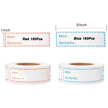 Removable Food Storage Labels Freezer Adhesive Stickers