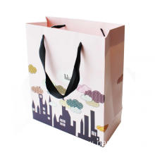 Unique C1S Artpaper Bag with Lamination and Ribbon