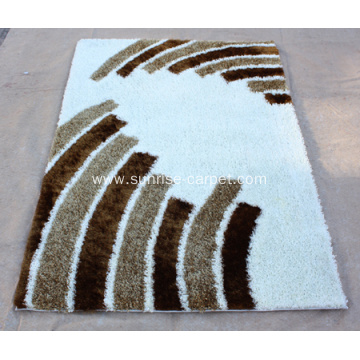 Polyester Silk Thick yarn with Design Rug