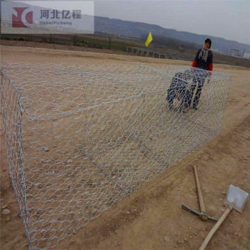 Galvanized gabion mesh for storage stone