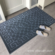 Waterproof PVC embossed design coil door mat