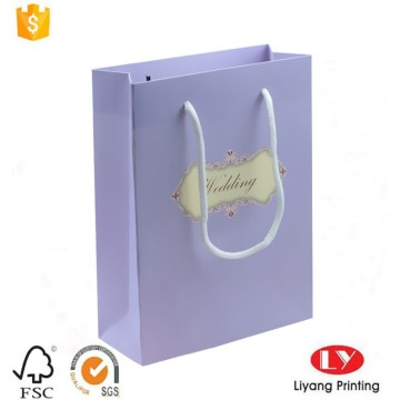Luxury paper wedding gift bag with window