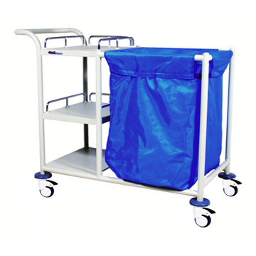 Hospital Steel Multi-functional Linen Trolley