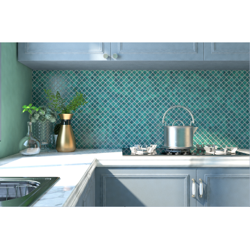 Kitchen Backsplash And Dining Room Glass Mosaic Tiles