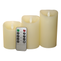 Battery Powered LED Slim Pillar Wax Candles