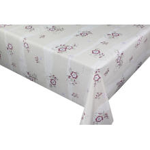 red Transfer Printing Tablecloth with Silver/Gold