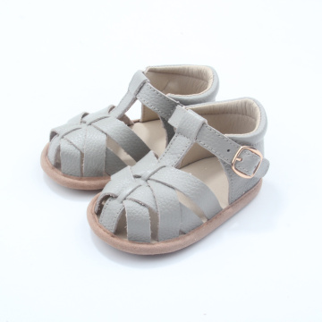 Fancy Wholesale Genuine Leather Baby Sandals