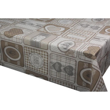 S-shaped Pvc Printed fitted table covers