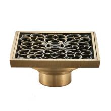 Bathroom retro square 10cm antique copper color brass deodorant floor drain