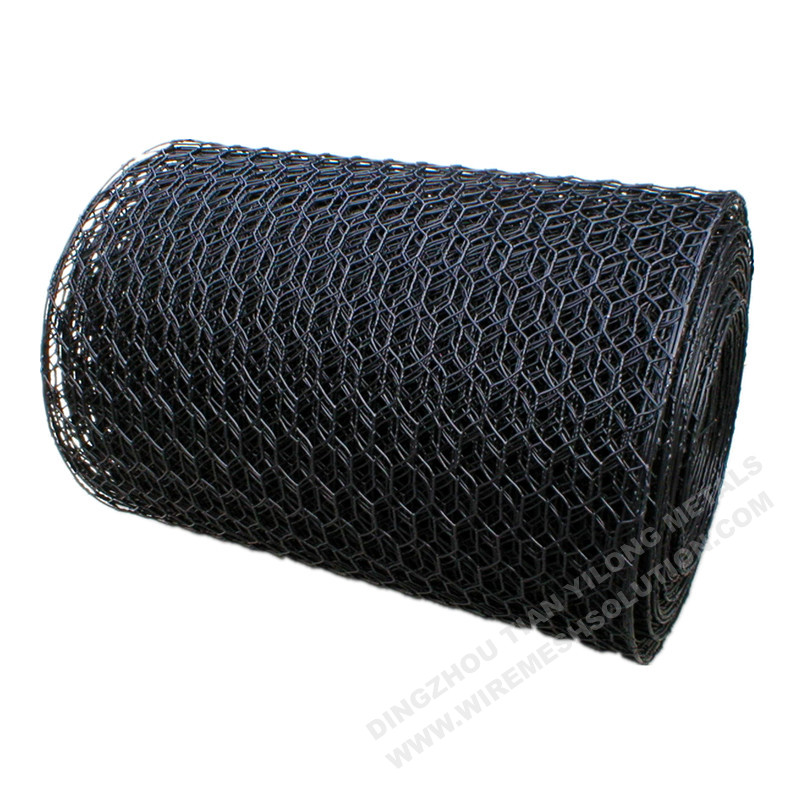 Black PVC Coated 1 inch Hexagonal Wire Netting