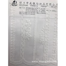Multiple Strips Polyester Embroider Fabric