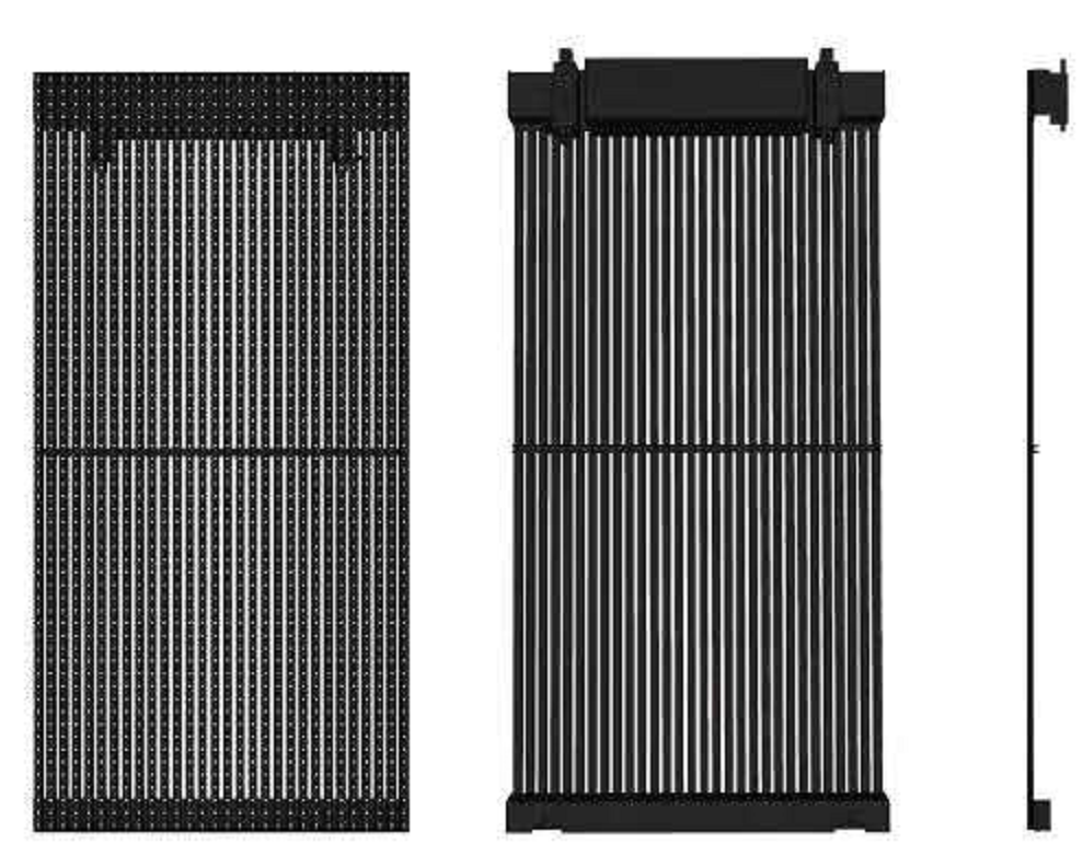 led curtain screen cabinet