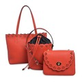Fashion Simple Cow Leather Female Red Shoulder bag