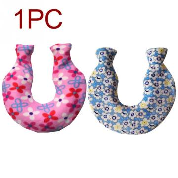 1400ml Hand Feet Neck Coral Fleece U Shaped Explosion Proof Shoulder Winter Hot Water Bag Cover Heat Preservation Removable Warm
