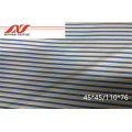 CVC blue stripe 60/40 45*45/110*76 57/58 105-110gsm
