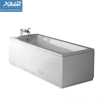 Modern design Simple straight square acrylic bathtub