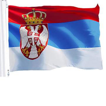 100% polyester countries serbia flag printing