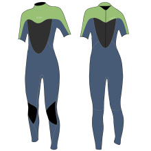 Seaskin Womens Short Arm Scuba Diving Wetsuits