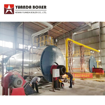 Gas Oil Burning Corrugated Tube Steam Boiler