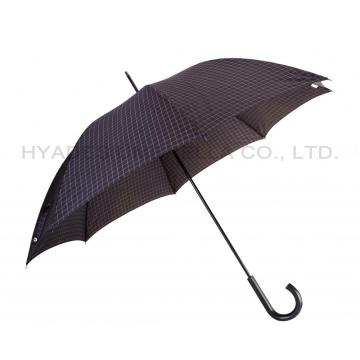 Minimalism Check Printed Mens Straight Umbrella