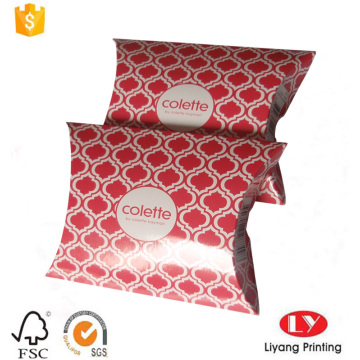 Small glossy jewelry gift paper pillow box
