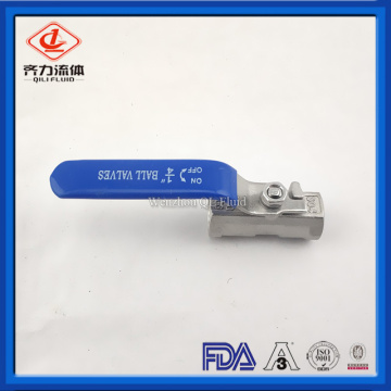 Sanitary SS304 SS316L One-Piece Ball Valve
