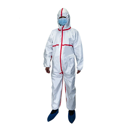 Coverall Non-Woven Biological Protection Isolation Gown Suit