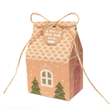 Custom Kraft Paper Christmas Packaging Candy Gift Box