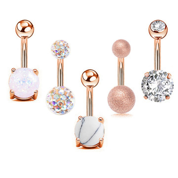 Stainless Steel Belly Button Rings for Women Love Heart Navel Curved Barbell Studs Sexy Dangle Belly Body Piercing Jewelry Set