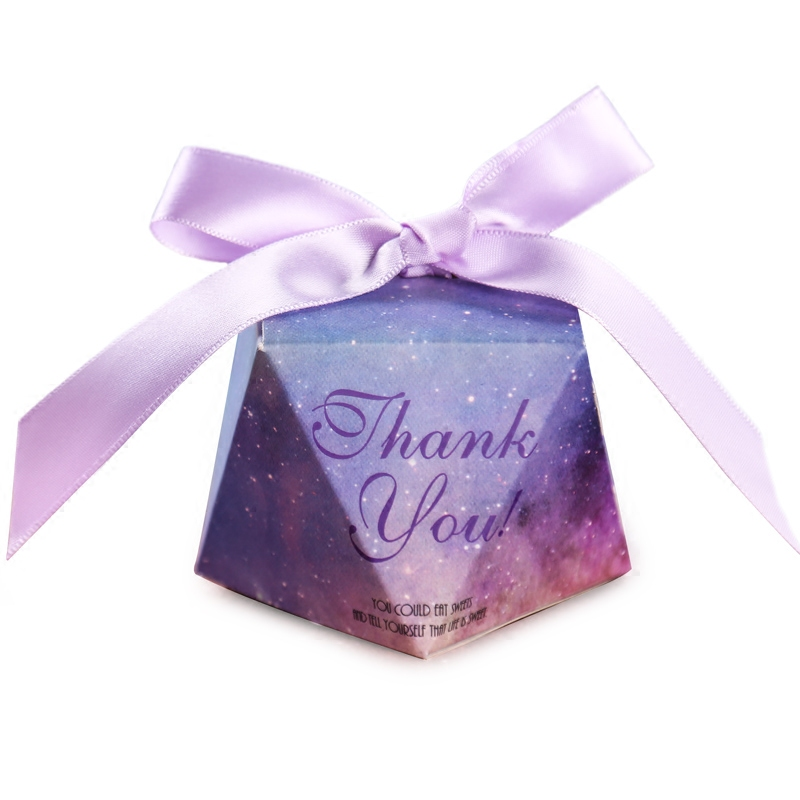 Diamond shape wedding candy box wholesale