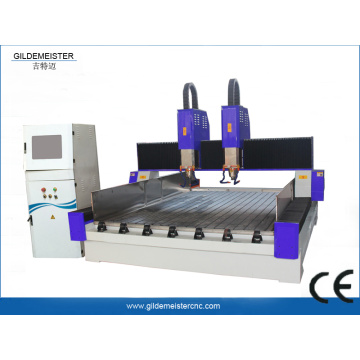 Two spindle stone carving machine