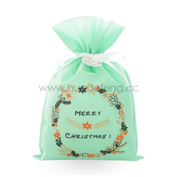 Green Non-woven Fabric Wreath Christmas Gift Wrapping Bags