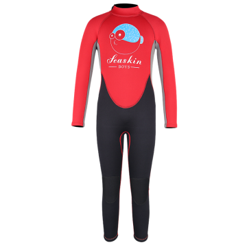Seaskin Kids Back Zipper Colorful Surfing Wetsuits