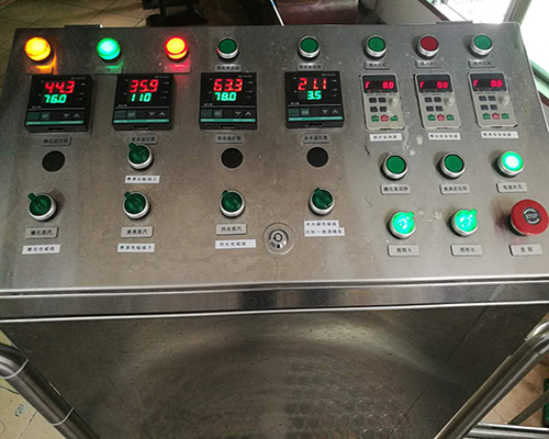 2 vessel brewhouse manual control cabinet