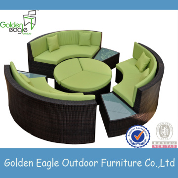 modern design PE rattan sofa set for hotel