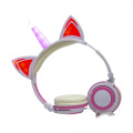 Cuffie con unicorno cablate per laptop illuminate