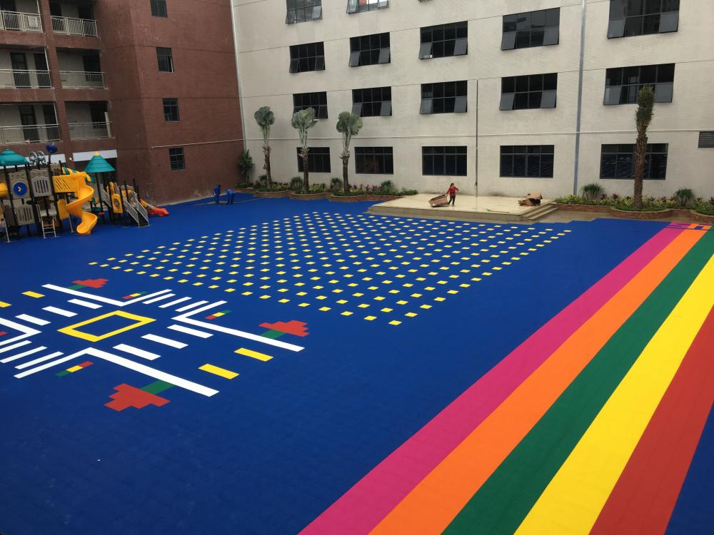 Outdoor Interlocking Plastic Floor Tiles