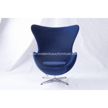 velvet fabric chair egg chair