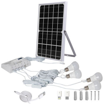 Solar Panels for Home System Power Lamp