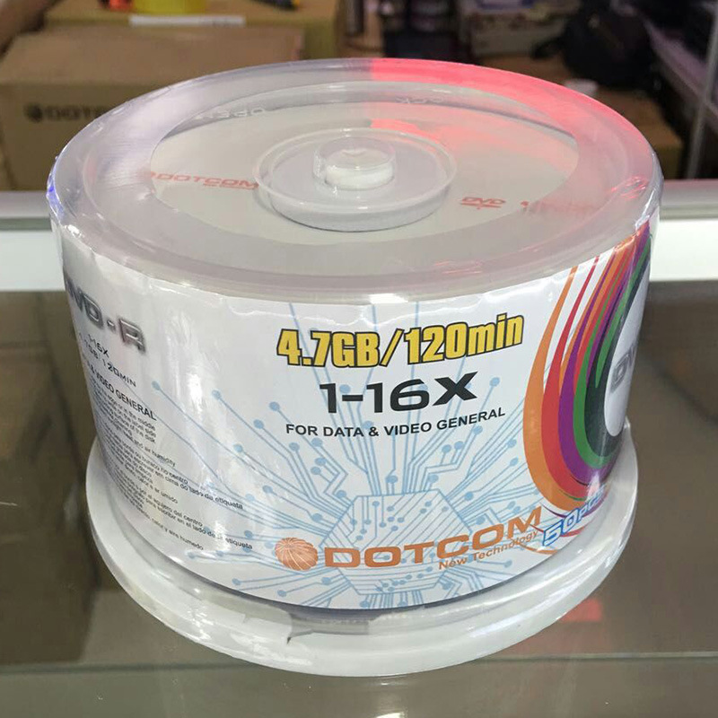 50pcs DVD Drives Blank DVD-R CD Disks 4.7GB 16X Bluray Recordable Media Compact Write Once Data Storage Empty DVD Discs