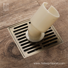 HIDEEP Square Brass Washing Machine Floor Drain