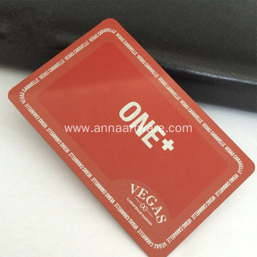 Colorful Electro-coating Metal Business Card with Hollow Out